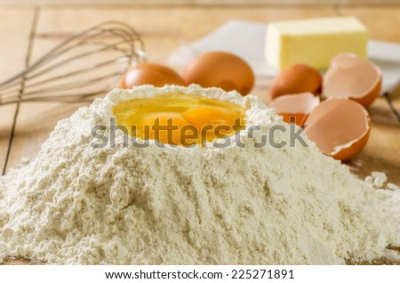Baking Ingredients - stock photo