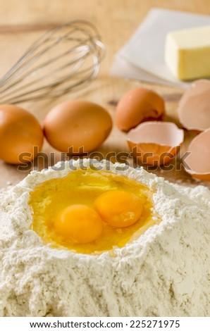 Baking Ingredients - stock photo