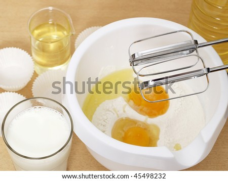 Baking mixture - stock photo