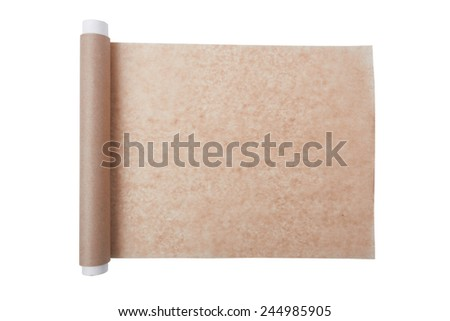 baking paper isolated on a white background - stock photo