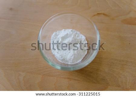 baking soda in bowl - stock photo
