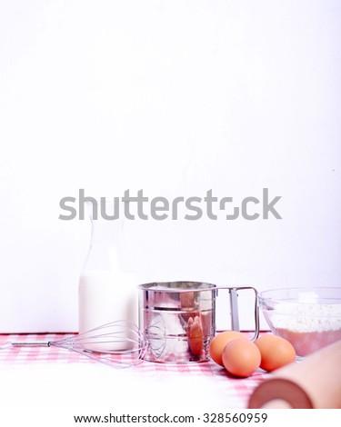 Baking table in kichen - stock photo
