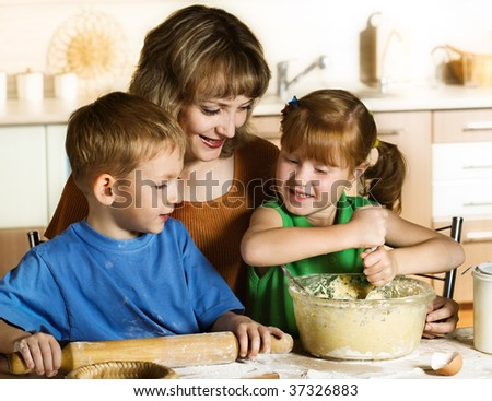 Baking together - stock photo