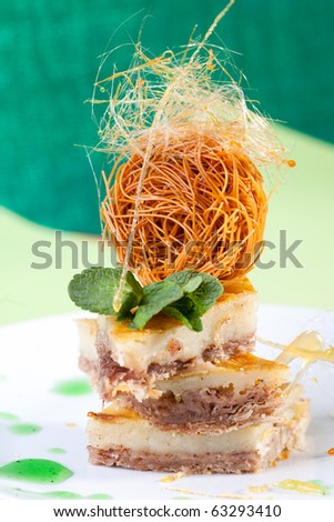Baklava dessert - stock photo