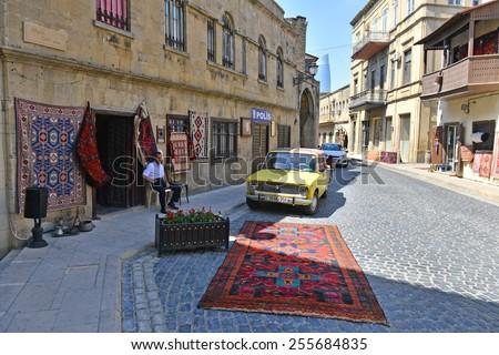 BAKU, AZERBAIJAN - JUNY 16: Icheri Sheher (Old Town) of Baku, Azerbaijan, on Juny 16, 2014. Icheri Sheher is a UNESCO World Heritage Site since 2000. - stock photo