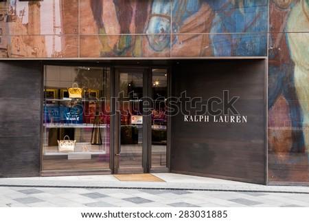 BAKU, AZERBAIJAN  May 10 2015:  Facade of Ralph Lauren flagship store in Baku on May 10 2015.   - stock photo