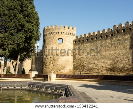 Baku, Azerbaijan, old city walls - stock photo