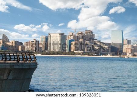 Baku City Panorama - stock photo