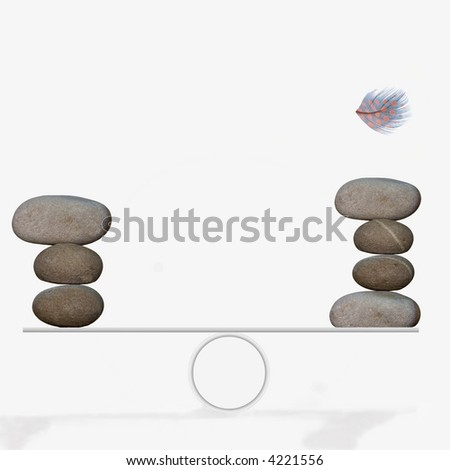 Balance about to be upset - stock photo