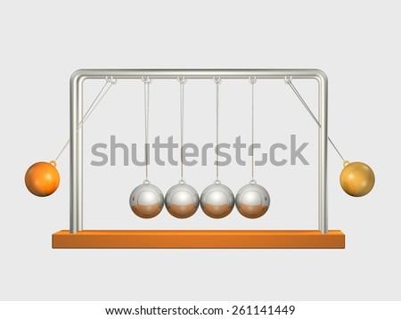 Balance Ball Move - stock photo