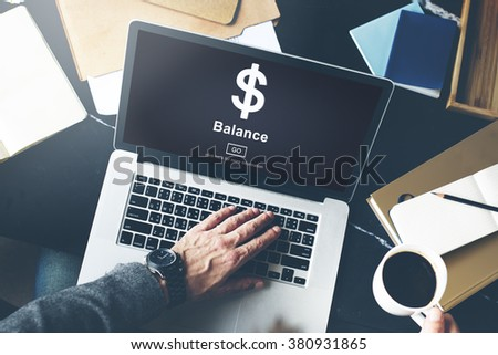 Balance Banking Finance Homepage Concept - stock photo