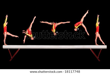 Balance beam - stock photo