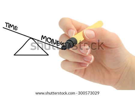 balance between money and time - stock photo