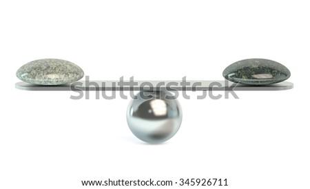 Balance concept isolated on white background - stock photo