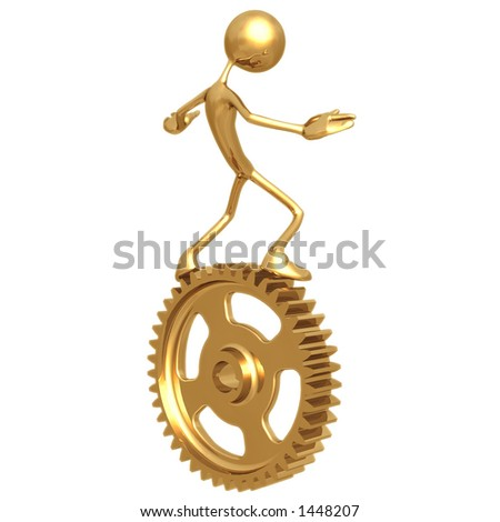 Balance Gear - stock photo