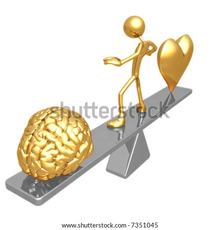 Balance Heart And Mind - stock photo
