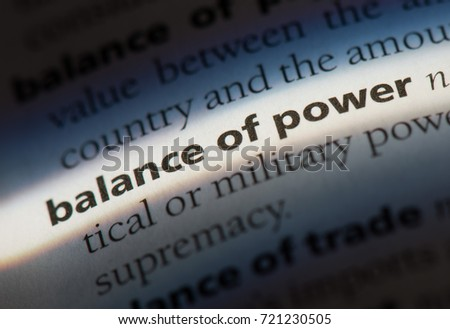 Balance of Power word in a dictionary. Power Balance concept