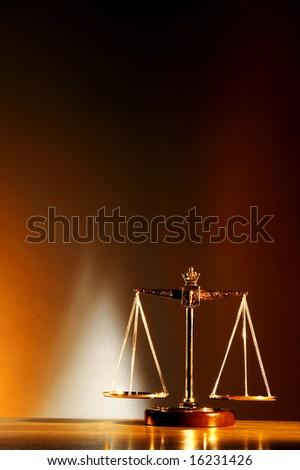 Balance on a dark blue background - stock photo