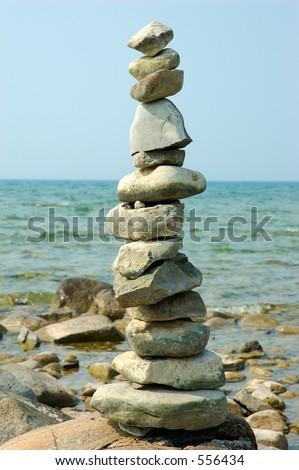 Balance Rocks - Cairns - stock photo