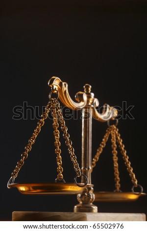 Balance scale isolated on background. - stock photo