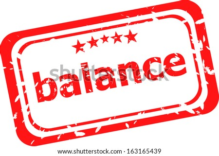 balance word on red rubber grunge stamp, raster