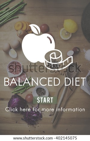 Balanced Diet Healthy Nutrition Choice Selection Concept - stock photo