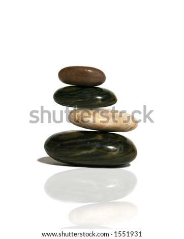 Balanced rocks representing meditation - stock photo