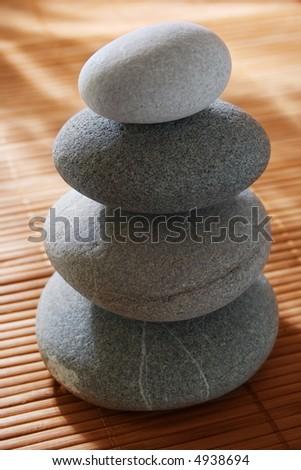 balanced stones - stock photo