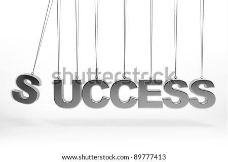 Balancing balls Concept 3d success type - stock photo