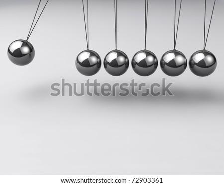 Balancing balls, Newton's cradle - stock photo