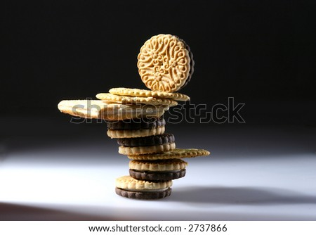 Balancing Craker for Diet-D - stock photo
