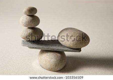 Balancing stones - stock photo