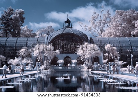 Balboa Park Reflection Pool - Infrared