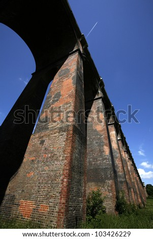 Balcombe Viaduct in West Sussex. Also known as Ouse Valley Viaduct - stock photo