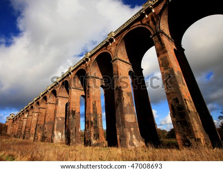 Balcombe Viaduct, Sussex, England. Also known as Ouse Valley Viaduct - stock photo