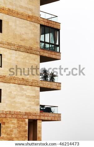Balconies. - stock photo