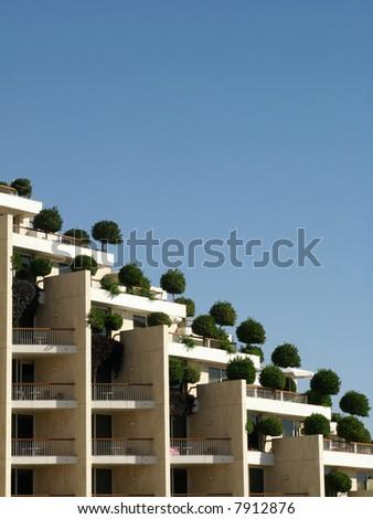 Balconies - stock photo