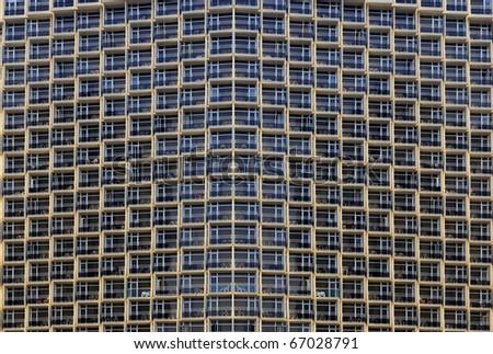 Balconies of modern building - stock photo