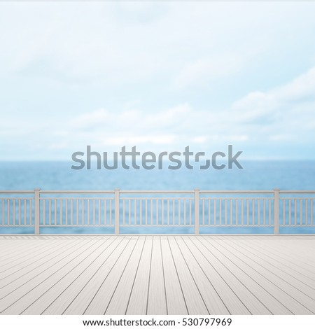 Balcony And Terrace Of Blur Nature Background
