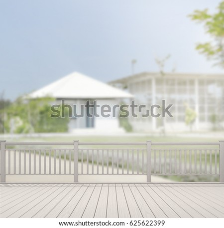 Balcony terrace blur nature background stock photo for Exterior background
