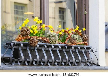 Balcony, cityscape - stock photo