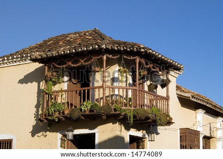Balcony in the old house, Trinidad, Cuba