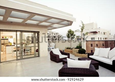 Balcony Interior Design - stock photo