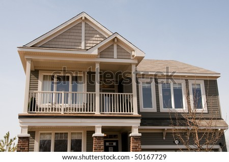balcony of new home on the upper level