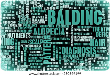 Balding and Hairloss as a Medical Treatment Condition - stock photo