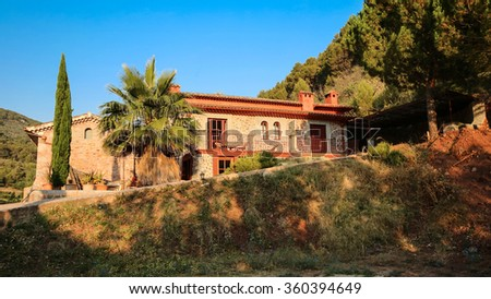 Balearic islands Mediterranean Finca, architecture of Majorca. - stock photo