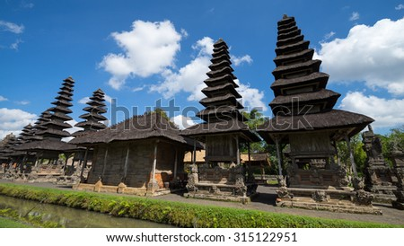BALI, INDONESIA - 15TH JUNE 2015; Taman Ayun temple is a royal temple of Mengwi Empire located in Mengwi, Badung regency that is famous places of interest in Bali, Indonesia. - stock photo