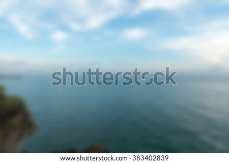 Bali Indonesia Travel theme blur background - stock photo