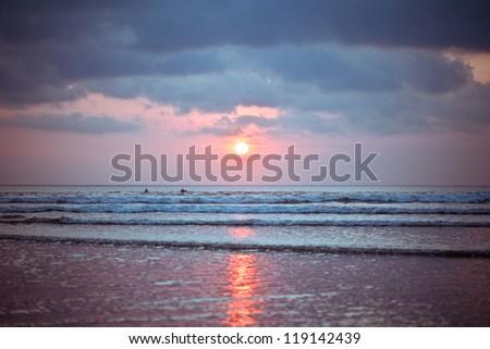 Bali Kuta Beach sunset - stock photo