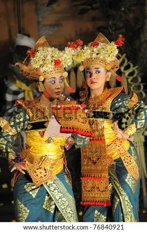 BALI - MAY 4: Traditional Indonesian dance at Ubud Place in Ubud, Bali. May 4, 2011 in Bali, Indonesia. - stock photo